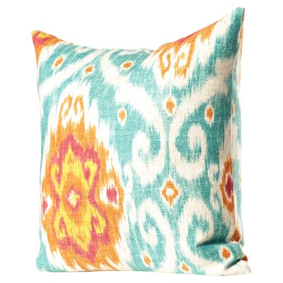 Bettembourg Ikat Cotton Throw Cushion Color: Flame, Size: 18 H x 18 W
