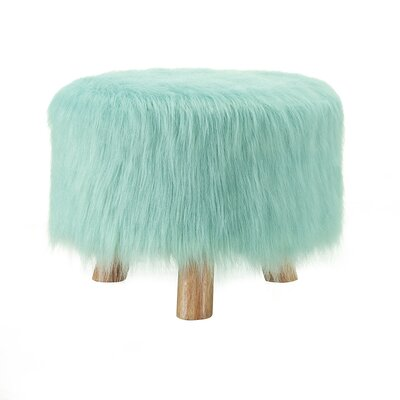 Elington Faux Fur Stool Upholstery: Harbor Gray