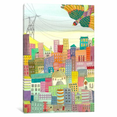 Ma Ville Painting Print on Wrapped Canvas Size: 12