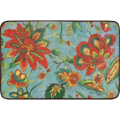 Willow Modern Blooms Kitchen Mat Rug Size: 16 x 26