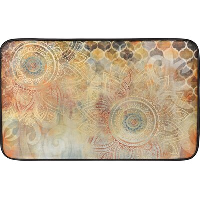Willow Antiqued Blooms Kitchen Mat Rug Size: 16 x 26