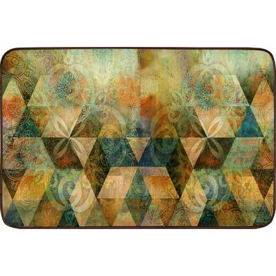 Willow Geometric Tile Kitchen Mat Rug Size: 16 x 26