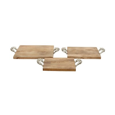 3 Piece Bungalow Rose Tray Set