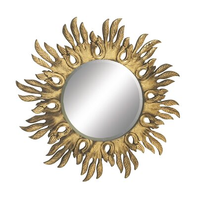 Shimmering Carved Wall Mirror