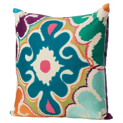 Edam Floral Cotton Throw Pillow