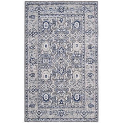 Bunn Grey/Silver Area Rug Rug Size: Rectangle 3 x 5