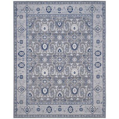 Bunn Grey/Silver Area Rug Rug Size: Rectangle 8 x 10