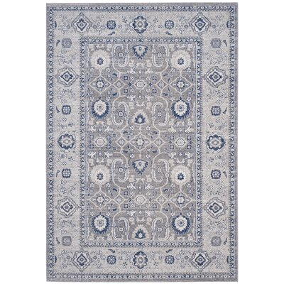 Bunn Grey/Silver Area Rug Rug Size: 51 x 76