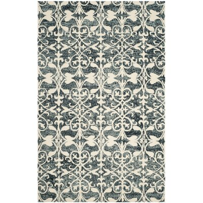 Greenmarket Hand-Tufted Charcoal/Ivory Area Rug Rug Size: 6 x 9