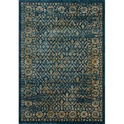 Ameesha Navy/Gold Area Rug Rug Size: 51 x 76