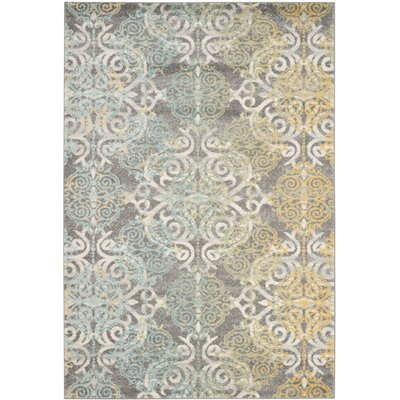 Elson Grey/Ivory Area Rug Rug Size: 4 x 6