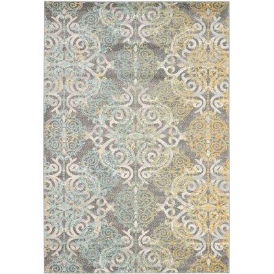 Ameesha Grey/Ivory Area Rug Rug Size: 4 x 6