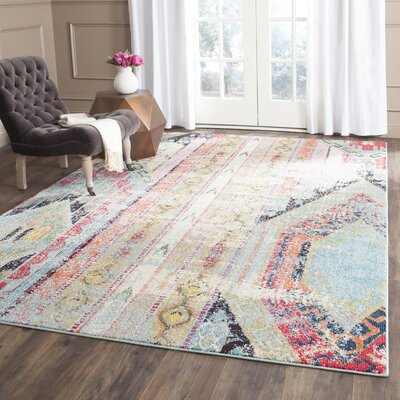 Zanzibar Green/Red Area Rug Rug Size: Runner 22 x 16