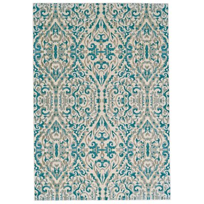 Saleya Turquoise Area Rug Rug Size: Rectangle 53 x 76