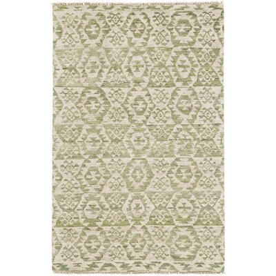 Dionte Hand Woven Wool Olive Area Rug Rug Size: Rectangle 79 x 99