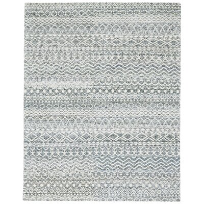 Delrico Hand-Knotted Haze Area Rug Rug Size: Rectangle 56 x 86