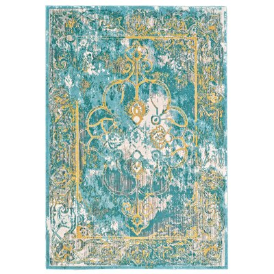 Dimitri Lagoon Area Rug Rug Size: Rectangle 53 x 76