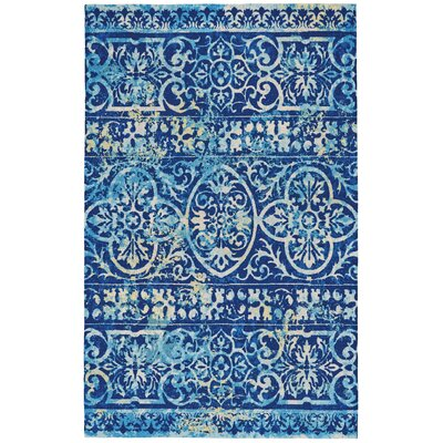 Eglantina Azure Area Rug Rug Size: Rectangle 96 x 13