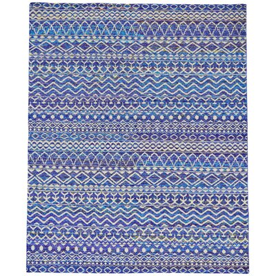 Eglantina Hand-Knotted Hydrangea Area Rug Rug Size: Rectangle 56 x 86