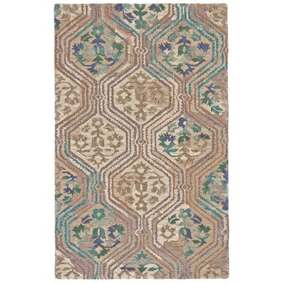 Anfa Hand-Tufted Evergreen Area Rug Rug Size: Rectangle 86 x 116