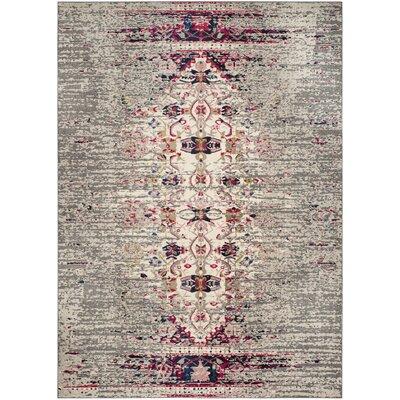 Shakti Gray/Beige Area Rug Rug Size: 4 x 57