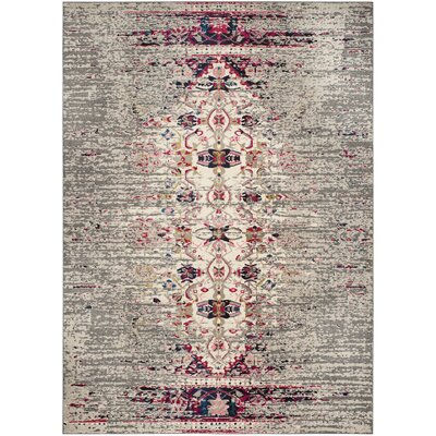 Shakti Gray/Beige Area Rug Rug Size: 51 x 77