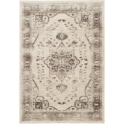 Schneider Beige & Brown Area Rug Rug Size: Rectangle 51 x 76