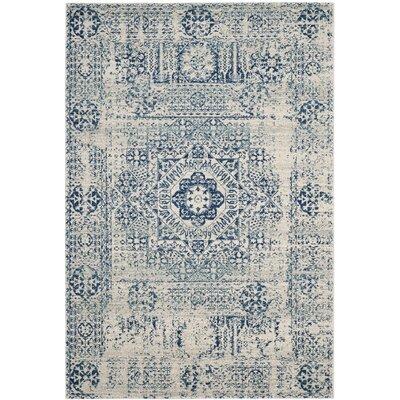Ameesha Blue Area Rug Rug Size: 12 x 18