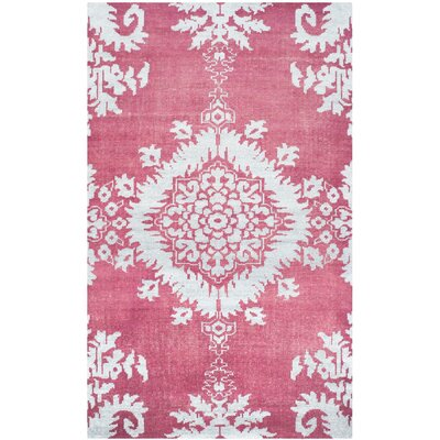 Moulouya Hand-Knotted Pink Area Rug Rug Size: 3 x 5