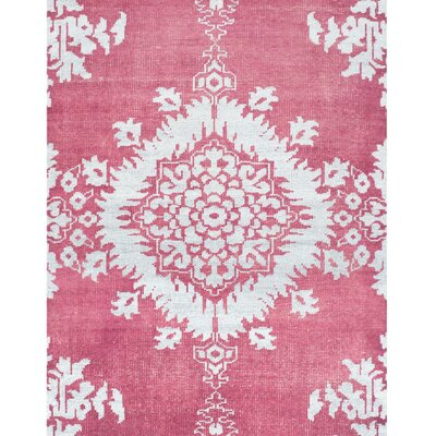 Moulouya Hand-Knotted Pink Area Rug Rug Size: 9 x 12