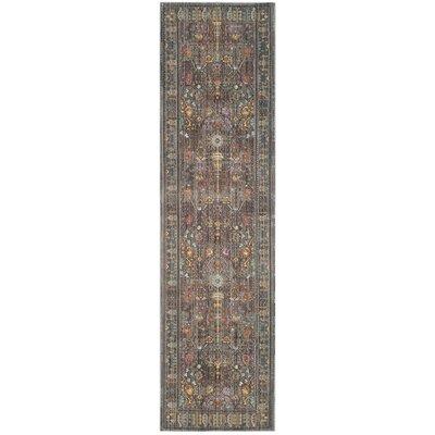 Bernardyn Gray/Multi Area Rug Rug Size: Runner 23 x 10
