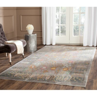 Ziraoui Grey/Multi Area Rug Rug Size: Square 67 x 67