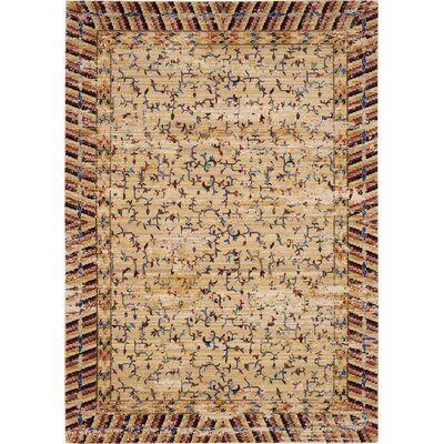 Santiago Ochre Area Rug Rug Size: Rectangle 99 x 128