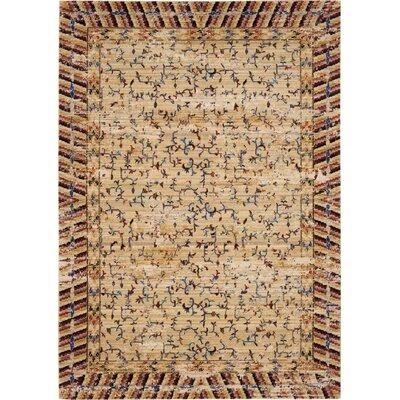 Santiago Ochre Area Rug Rug Size: 79 x 99