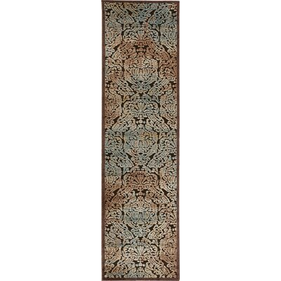 Vucciria Chocolate Area Rug Rug Size: Runner 111 x 7
