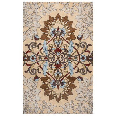 Andaluss Hand-Tufted Beige Area Rug Rug Size: Rectangle 9 x 12