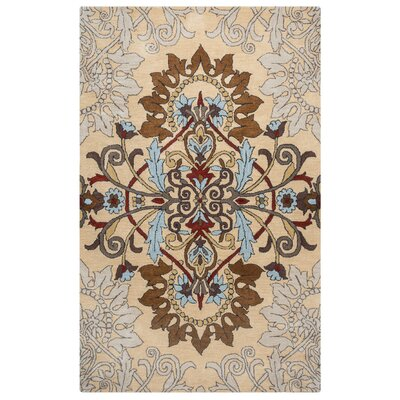 Andaluss Hand-Tufted Beige Area Rug Rug Size: 8 x 10