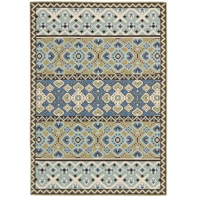 Zahr Green / Blue Area Rug Rug Size: 53 x 77
