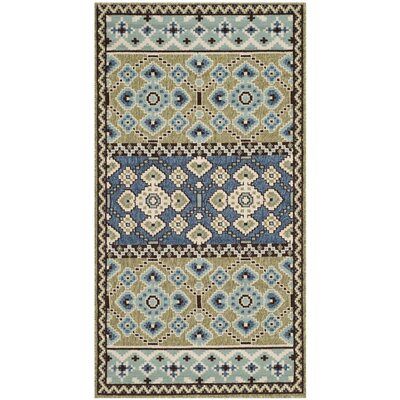 Zahr Green / Blue Area Rug Rug Size: 4 x 57