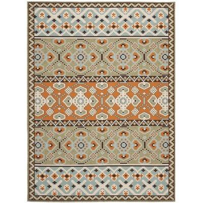 Zahr Green/Orange Area Rug Rug Size: 8 x 112