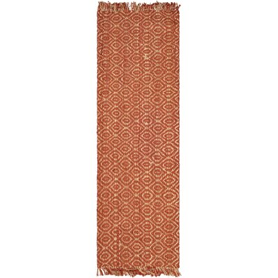 Bosphorus Rust Area Rug Rug Size: Runner 26 x 22