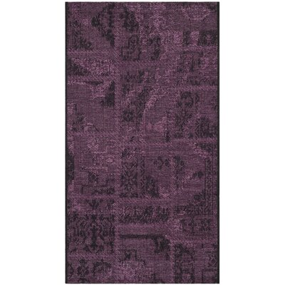 Sanaoubar Black/Purple Area Rug Rug Size: 5 x 8