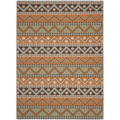 Zahr Orange/Brown Area Rug Rug Size: Rectangle 8 x 112