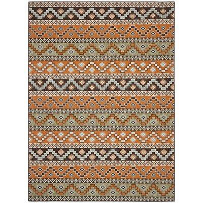 Zahr Orange/Brown Area Rug Rug Size: 4 x 57