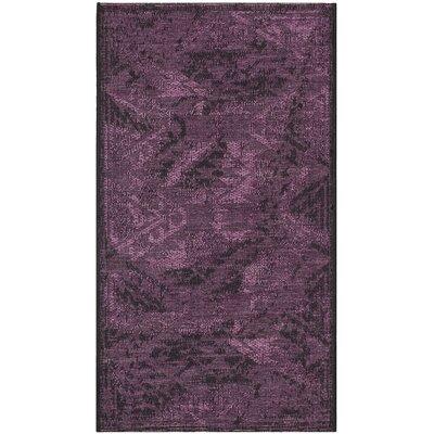 Sanaoubar Black/Purple Area Rug Rug Size: 8 x 11