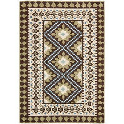 Zahr Chocolate Indoor/Outdoor Area Rug Rug Size: 8' x 11'2