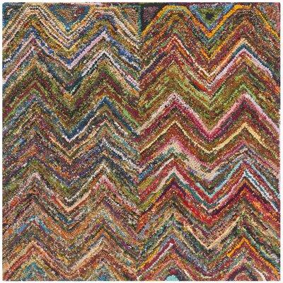 Sergio Hand-Tufted Multi Area Rug Rug Size: Square 4