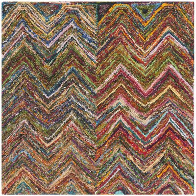 Anaheim Hand-Tufted Multi Area Rug Rug Size: Square 4