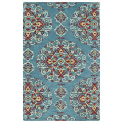 Hocca Hand-Tufted Teal Area Rug Rug Size: 8' x 10'