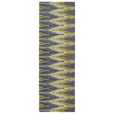 Hocca Hand-Tufted Graphite Area Rug Rug Size: Runner 26 x 8